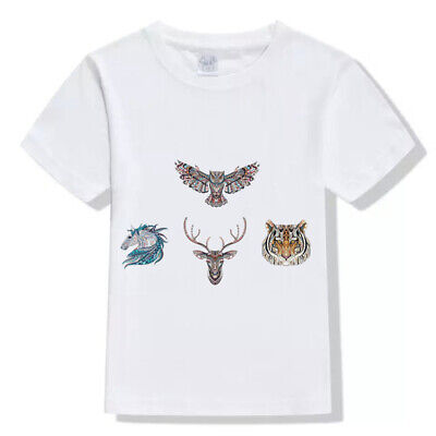 Cool T-shirt Washable Heat Transfer Applique 3D Animal Patch Ironing Sticker
