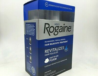 Men's Rogaine 5% Minoxidil FOAM for Hair Regrowth, 3-month Supply. 01/2021+