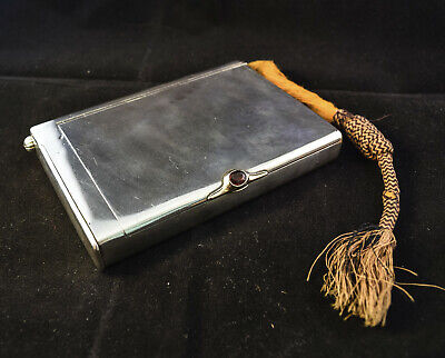 Russian--Very Heavy& Large-Solid Silver-Cicarette Case With Photo Compartment