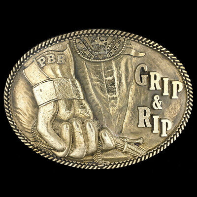 NOS Pabst Beer PBR Professional Bull Rider Prca Rodeo Cowboy Brass Belt Buckle