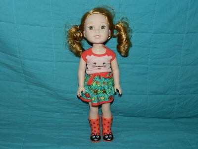 """American Girl Wellie Wishers Willa Girl Doll with Outfit 14.5"""""""