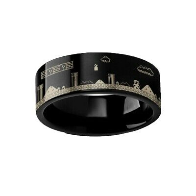 Thorsten Corinthian Beveled Edge Flat Tungsten Carbide Ring 6mm Wide Wedding Band from Roy Rose Jewelry