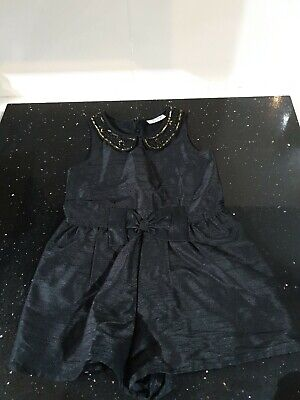Next Girls Age 3 Black And Gold Short Jumpsuit Ideal For Xmas Or Parties....