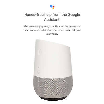 Google Home Wireless Bluetooth Smart Speaker With Google Assistant - White