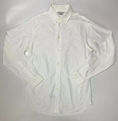 Brooks Brothers 'Gatsby' Solid White Heavy Dress Shirt 15 1/2 35 Gently Used