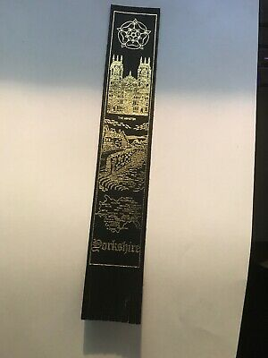 Leather bookmark. Yorkshire. Three images.