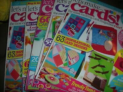 Let's Make Cards ! Magazines.  Issues 11, 21, 31 & 43
