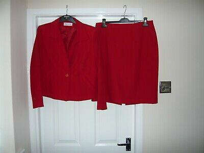 Vintage Gregory Pat (Paris) Red Skirt Suit Size 44 (14/16)