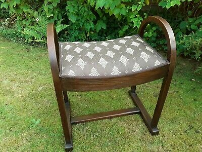 Edwardian Piano Stool Professionally Reupholstered