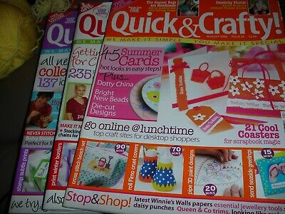 Quick & Crafty Magazines.  Issues 23, 27 & 28