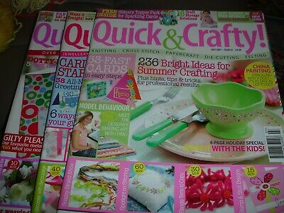 Quick & Crafty Magazines.  Issues 35, 37 & 40