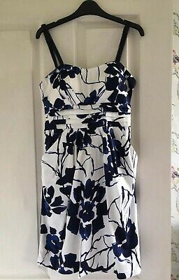 Snap Ladies Girls Blue White Black Occassion Wedding Outfit Dress Size 6 8 Small