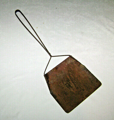 Antique Sheet Metal Coal Ash Scoop for Fireplace or Wood Stoves