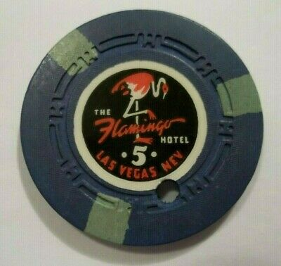 Rare Flamingo Hotel Casino Chip Las Vegas Nevada Poker Chip Obsolete Nv