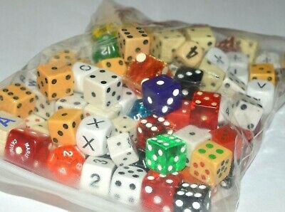 Large Mixed Lot Assorted Dice 100+ Vintage Role Pay Letters Casino Game AD&D