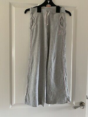 Girls 10 Years Grey Next Tracksuit Bottoms Jogger