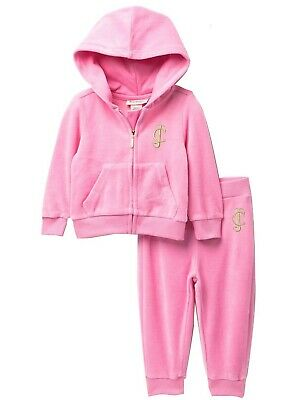 JUICY COUTURE girl pink velour TRACKSUIT 3Y 4Y rhinestone & gold print back BNWT