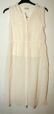 Ivory Cream Top Blouse Tunic Shirt With Cami Next Sheer 9 Years Girls 134Cm