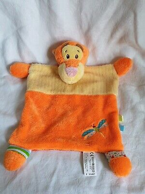 Posh Paws Tigger Comforter Soft Toy Orange Dragonfly Blankie