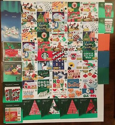 All 2019 Christmas Holiday Starbucks gift cards Complete set + sleeves full lot!