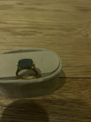 Authentic Ancient Egyptian Seal Swivel Gold Ring Scarab Antique