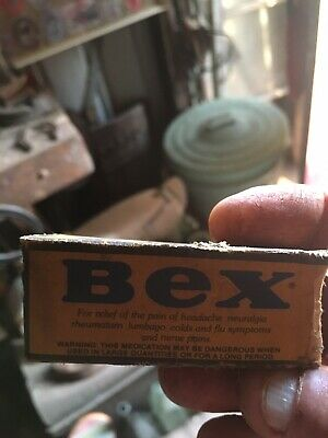 Vintage Old Bex Powder Contents Full