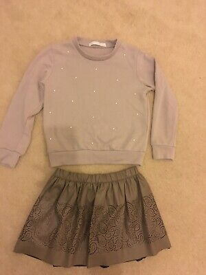 Mayoral Girls Top/ Jumper And Skirt Age 8