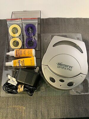 Memorex OptiFix Pro CD DVD Video Game Disc Scratch Repair Fix Kit AC Adapter
