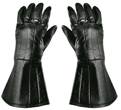 Darth Vader Gloves Gauntlets Costume Accessory Faux Leather ADULTS Star Wars Fan