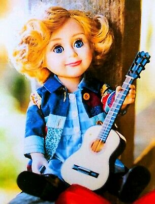 """Dolly Parton Coat of Many Colors Doll and Guitar 18"""" Dollywood Exclusive NEW NIB"""