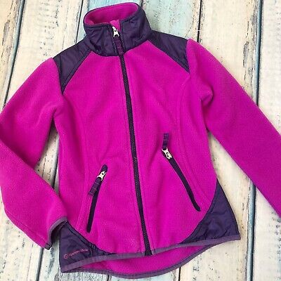 Champion Venture Warm XS 4-5 Girls Fleece Jacket Purple Full Zip