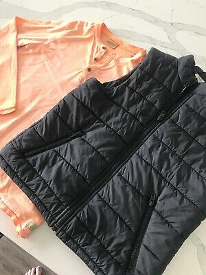 Seed Teen Boys Black Zip Vest + Top Bundle Size 10