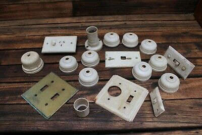 Bulk Vintage Bakelite Light Switch Plug Old Lamp Cover At Deco