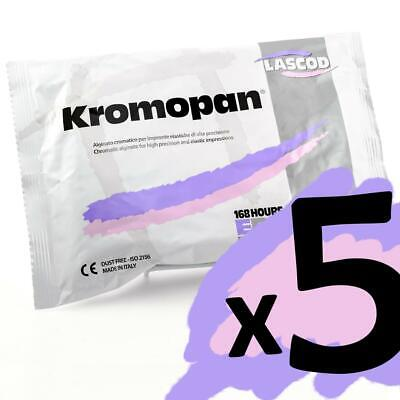 Kromopan 1 Lb. Bag Pouch Color Changing Alginate Fast Set < 5 Pack >