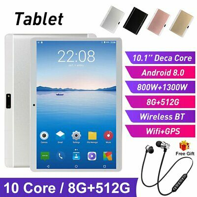 10.1 Inch Android 8.0 Tablet 6+128GB Bluetooth Phablet Dual Card Phone Call PC
