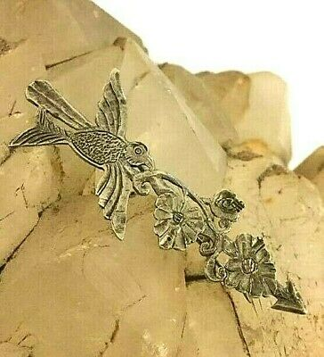 Antique Chinese Rare Pin Brooch Handmade Sterling Silver Bird and Flower Mark