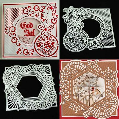 Ellipse Lace Metal Cutting Dies Stencil Scrapbooking Photo Album Paper Card DIY
