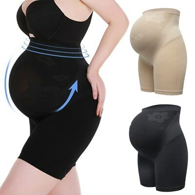Maternity Shaper High Waist Pregnancy Panties Abdomen Support Seamless Shorts UK