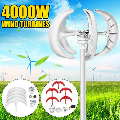 4000W 5 Blades Lantern Power Wind Turbines Generator For Charger Controller