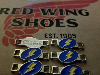 Red Wing Boot Lace Keepers Lighting Bolt Three (3) pairs