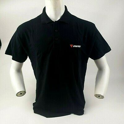 Dainese Black Casual Motorbike Motorcycle T-Shirt D Polo Shirt Gift Idea