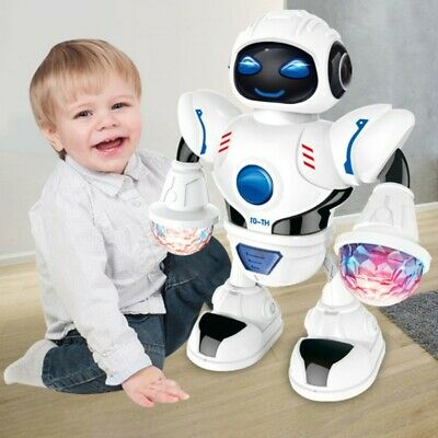 LED Light Music Dancing Walking Robot Toy For 2-11 Years Old Boys Kids Gift UK