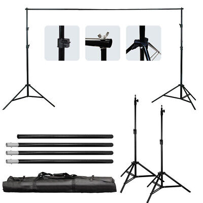 6.5Ft Adjustable Photography Background Support Stand Photo Studio Backdrop Kit