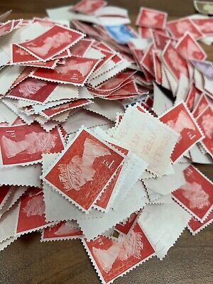 Approx 1500 X 1st/2nd Class Unfranked 2nds Off Paper Postage Stamps FV £1000 (4)