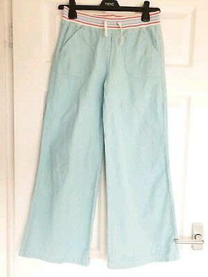 Excellent Condition Mini Boden Blue Cotton Trousers Age 11-12 Years