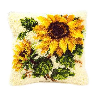 VERVACO|Latch Hook Kit: Cushion: Sunflowers|PN-0014168