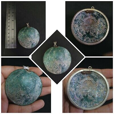 Beautiful Rare Roman Patina Beautiful Roman Glass Pendant # 34A