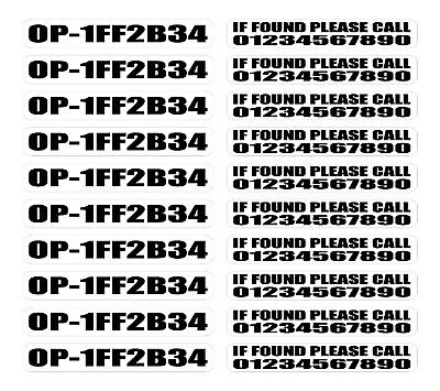 20 x Drone - Aircraft - Operator ID CAA Identification Regulation Stickers 002