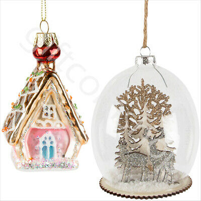 Vintage Christmas Xmas Tree Ornaments Hanging Decoration Glass Baubles FREE P&P