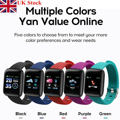 116Plus Bluetooth Smart Sports Watch Wristwatch Fitness Activity Health Tracker